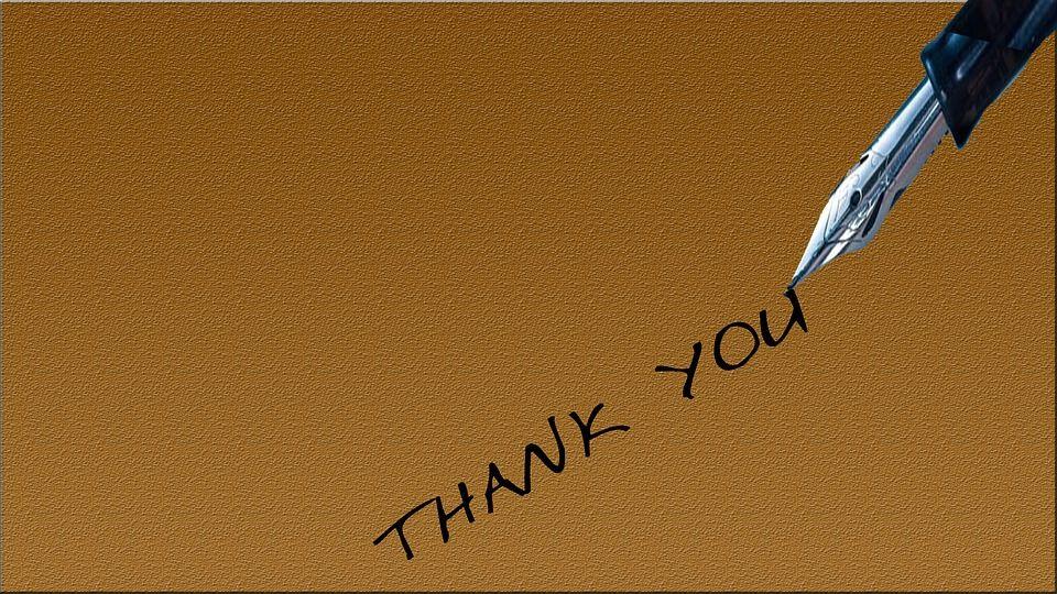 ペンでお礼を書く