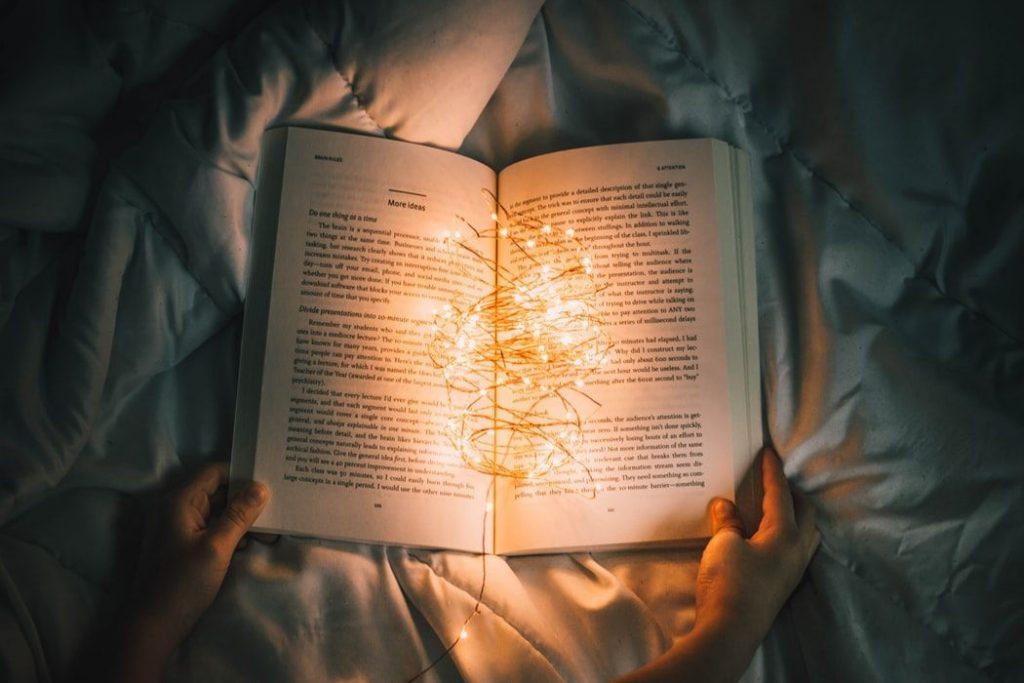 幻想的な光と本