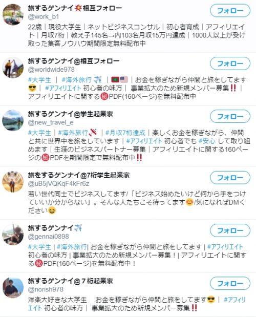 旅するゲンナイさんのツイッターアカウント